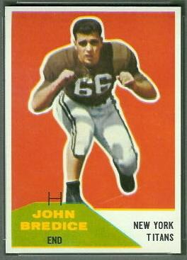 John Bredice 1960 Fleer football card