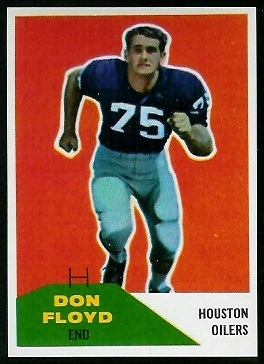 Don Floyd 1960 Fleer football card