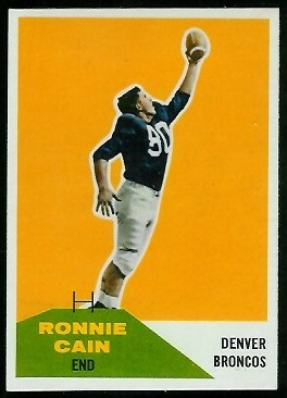 Ronnie Cain 1960 Fleer football card