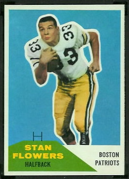 Stan Flowers 1960 Fleer football card