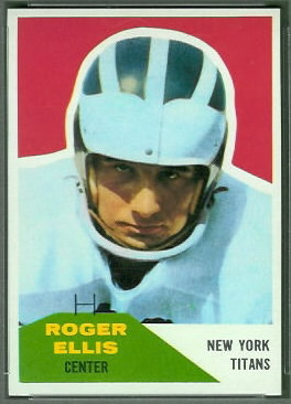 Roger Ellis 1960 Fleer football card