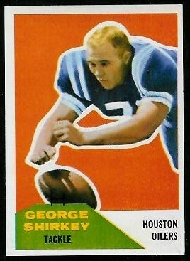 George Shirkey 1960 Fleer football card