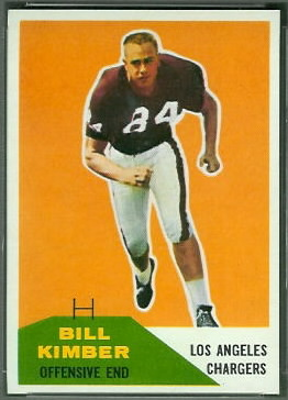 Bill Kimber 1960 Fleer football card