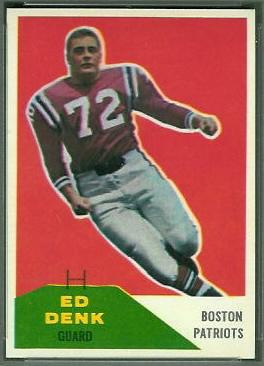 Ed Denk 1960 Fleer football card