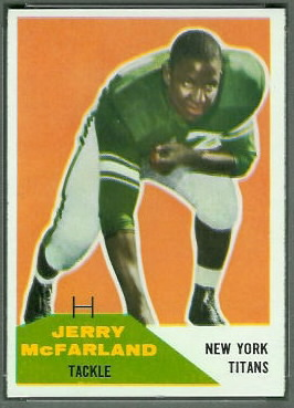 Jerry McFarland 1960 Fleer football card