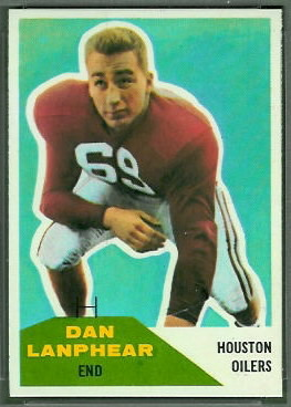 Dan Lanphear 1960 Fleer football card