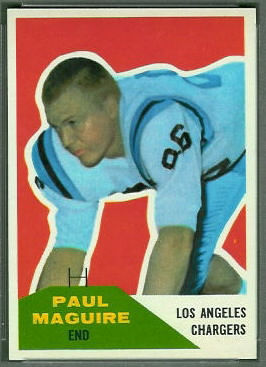 Paul Maguire 1960 Fleer football card
