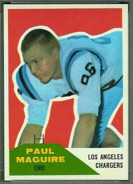 Paul Maguire 1960 Fleer football card