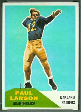 Paul Larson 1960 Fleer football card