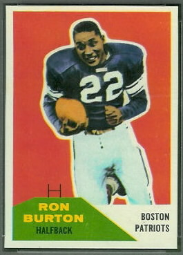 Ron Burton 1960 Fleer football card