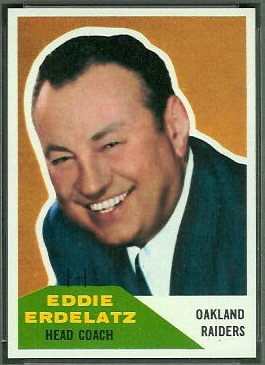 Eddie Erdelatz 1960 Fleer football card