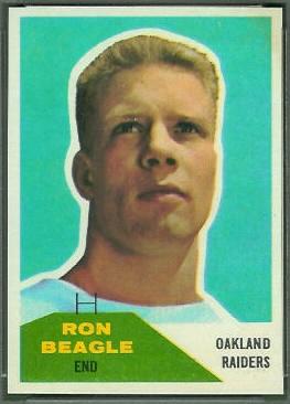 Ron Beagle 1960 Fleer football card
