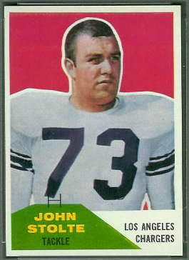 John Stolte 1960 Fleer football card