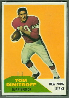Tom Dimitroff 1960 Fleer football card