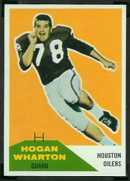 Hogan Wharton 1960 Fleer football card