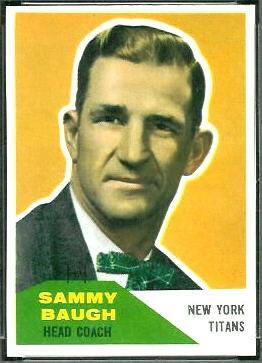 Sammy Baugh 1960 Fleer football card