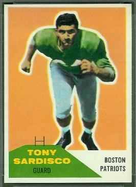 Tony Sardisco 1960 Fleer football card
