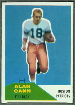 Alan Cann 1960 Fleer football card