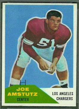 Joe Amstutz 1960 Fleer football card