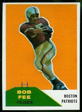 Bob Fee 1960 Fleer football card