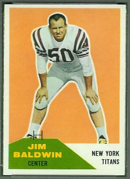 Jim Baldwin 1960 Fleer football card