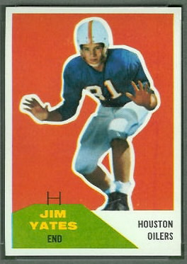 Jim Yeats 1960 Fleer football card
