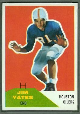 Jim Yeats 1960 Fleer football card