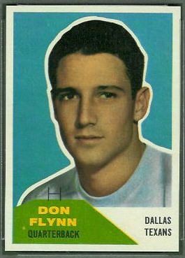 Don Flynn 1960 Fleer football card