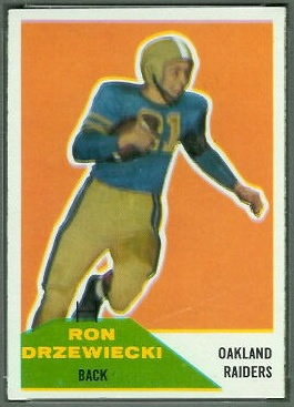 Ron Drzewiecki 1960 Fleer football card