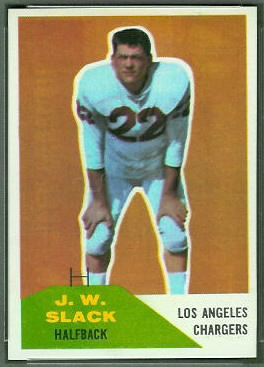 J.W. Slack 1960 Fleer football card