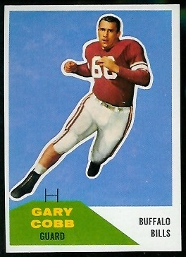 Gary Cobb 1960 Fleer football card