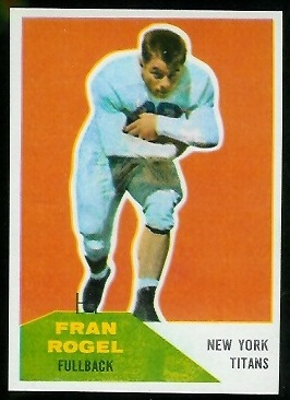 Fran Rogel 1960 Fleer football card