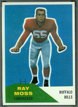 Ray Moss 1960 Fleer football card