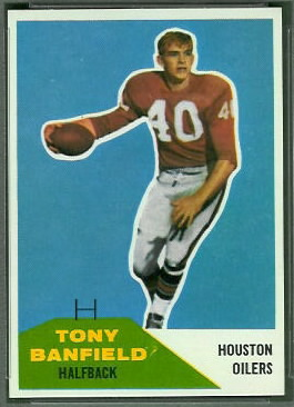 Tony Banfield 1960 Fleer football card