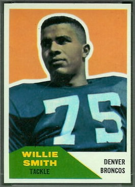 Willie Smith 1960 Fleer football card