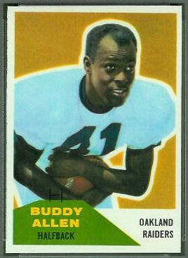 Buddy Allen 1960 Fleer football card