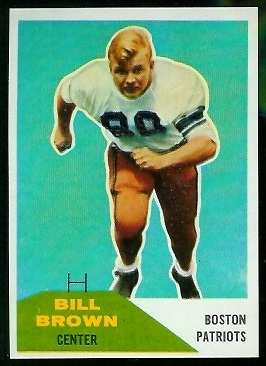 Bill Brown 1960 Fleer football card