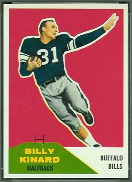 Billy Kinard 1960 Fleer football card
