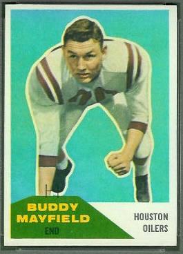 Buddy Mayfield 1960 Fleer football card
