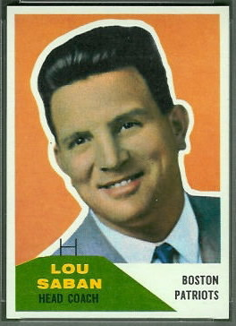 Lou Saban 1960 Fleer football card