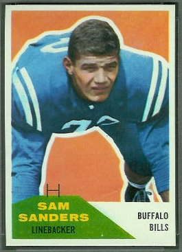 Sam Sanders 1960 Fleer football card