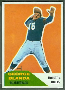 George Blanda 1960 Fleer football card