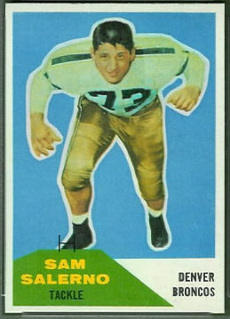 Sam Salerno 1960 Fleer football card