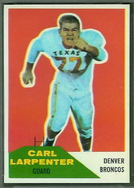 Carl Larpenter 1960 Fleer football card