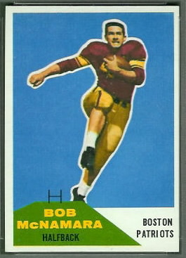 Bob McNamara 1960 Fleer football card