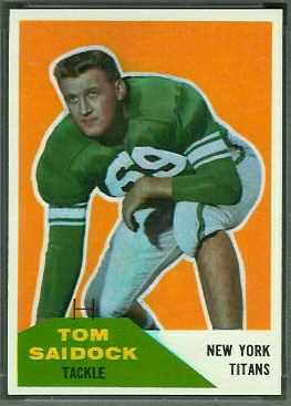 Tom Saidock 1960 Fleer football card