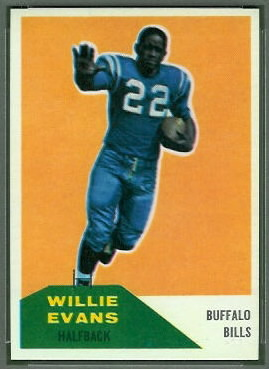 Willie Evans 1960 Fleer football card