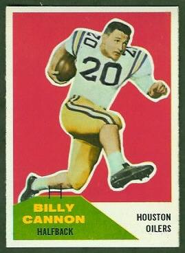 Billy Cannon 1960 Fleer football card