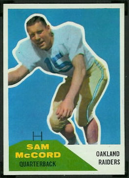 Sam McCord 1960 Fleer football card