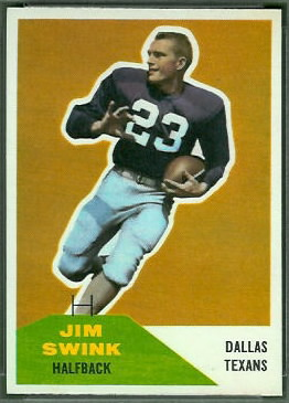 Jim Swink 1960 Fleer football card